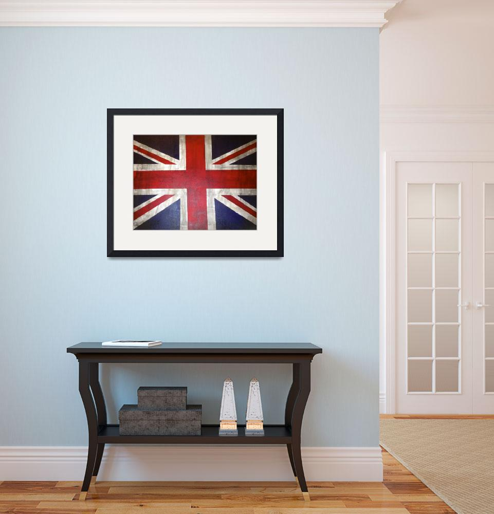 """""""A Rustic UK/ British Flag&quot  (2013) by TheArtwerks"""