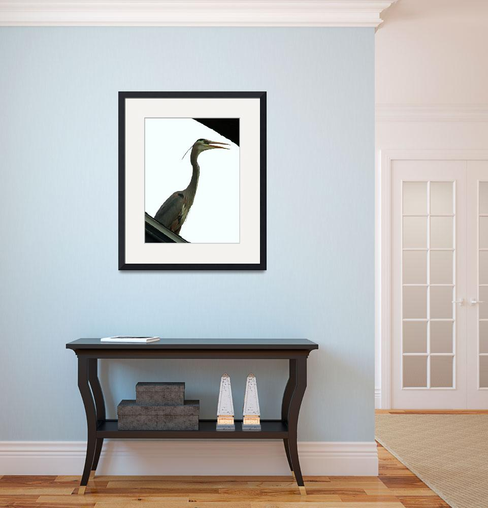 """""""Heron in the City""""  (2012) by kcam"""