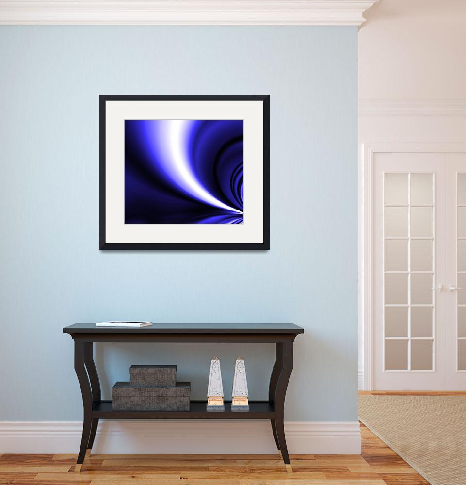 """""""Blue and White Motion&quot  (2008) by LisaEwingArt"""