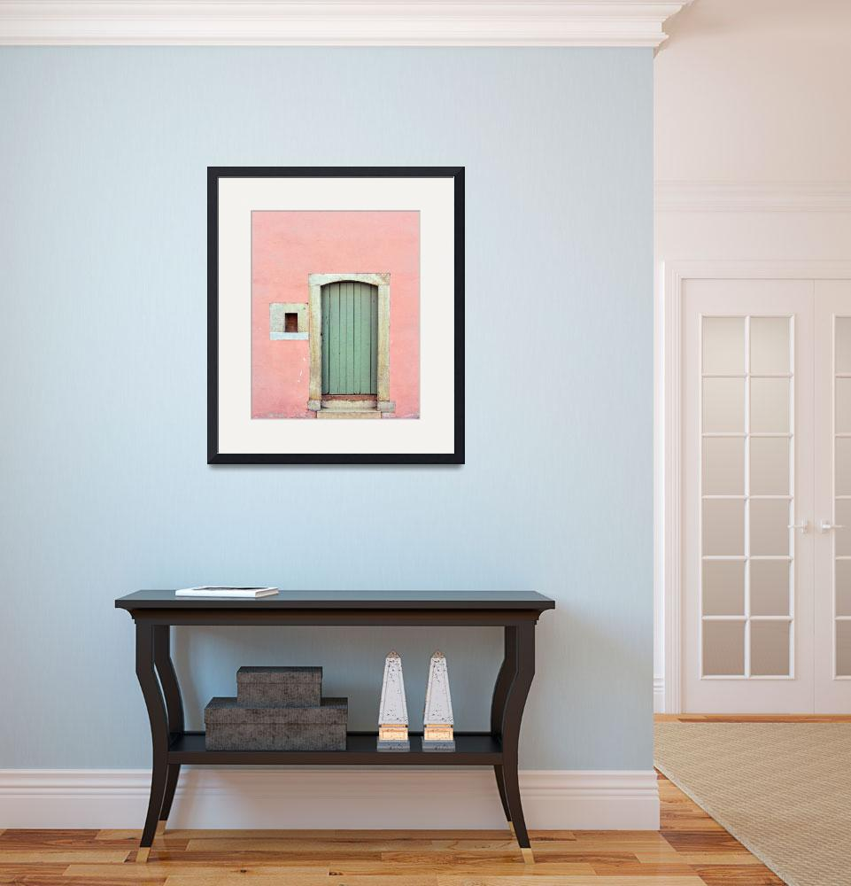 """""""pink wall with blue door""""  (2014) by clasto"""