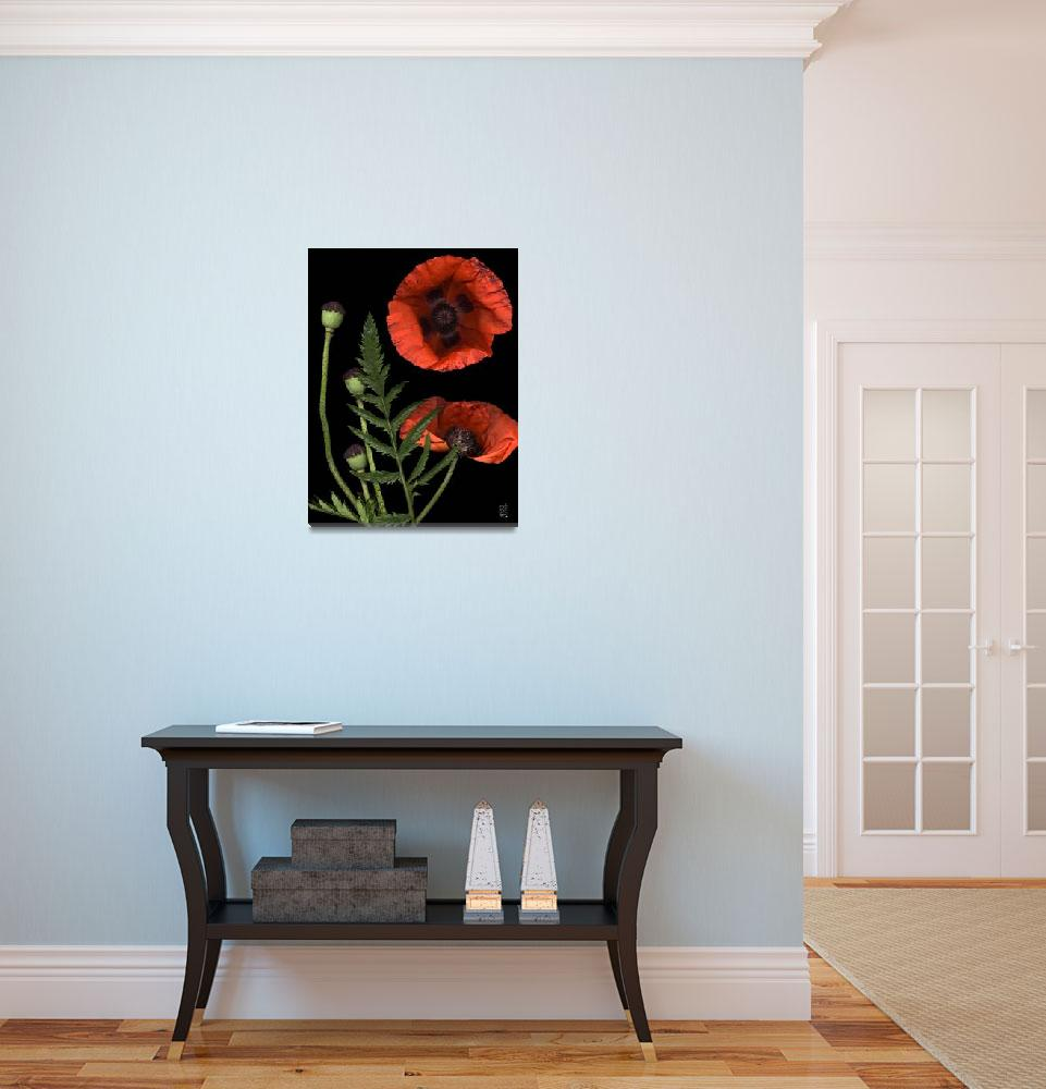 """""""Glowing Red Poppy&quot  (2005) by thirdeyeimage"""