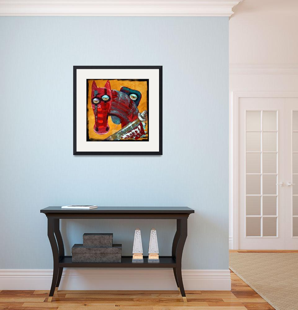 """""""War - The Red Horse&quot  (2010) by ArtPrints"""