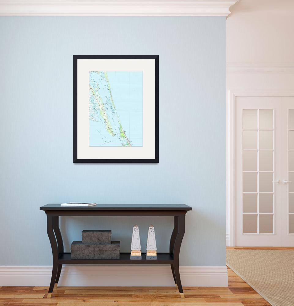 """""""Northern Outer Banks North Carolina Map (1985)&quot  by Alleycatshirts"""