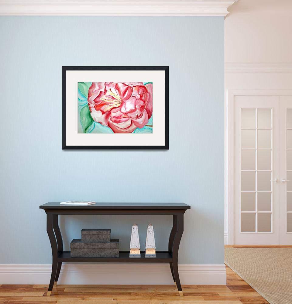 """""""Red Camellia&quot  by lorisart"""