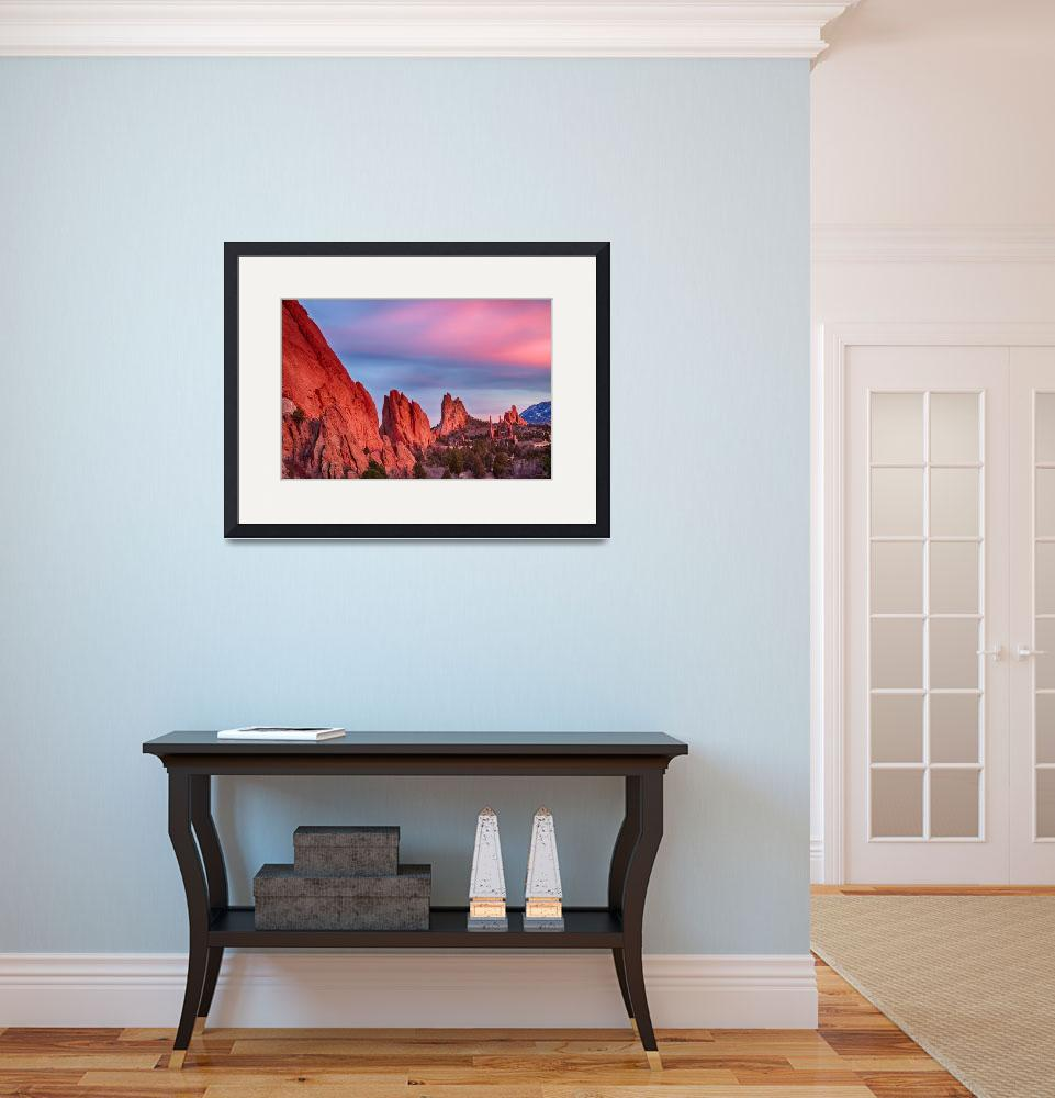 """Garden of the Gods Sunset View&quot  (2014) by lightningman"
