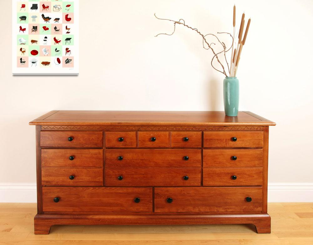 """Mid-Century Modern Furniture (Warm)&quot  (2009) by jamesprovost"