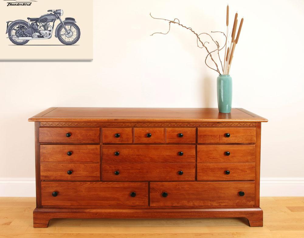 """The Classic Thunderbird Motorcycle""  by mark-rogan"