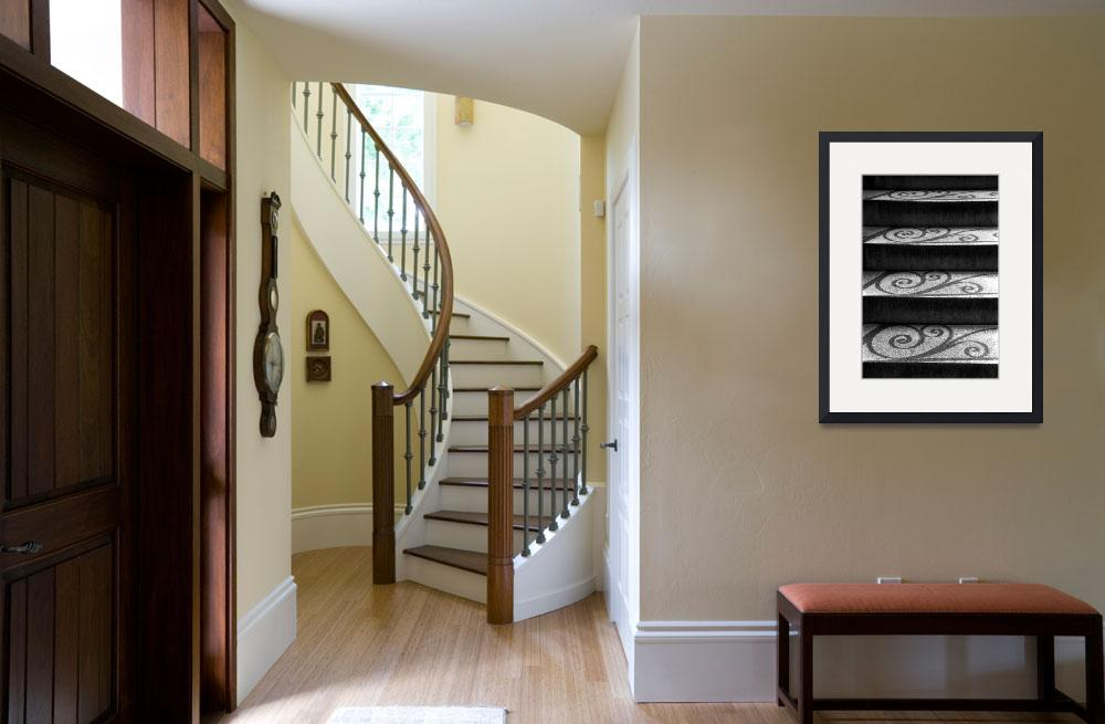 """""""Shadows & Stairs at the Old Exchange&quot  (2002) by PadgettGallery"""