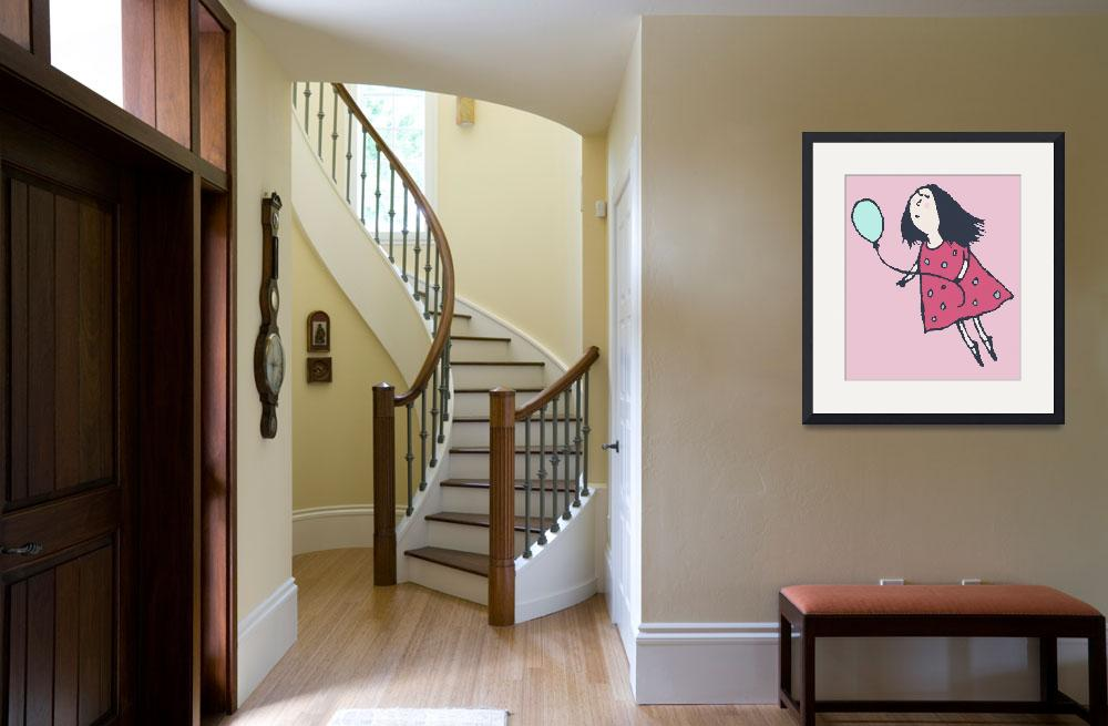 """""""Balloon Girl Pink&quot  by artlicensing"""