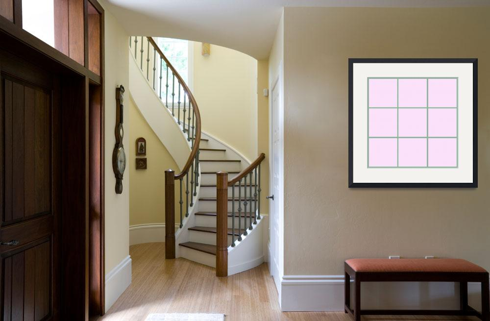 """""""Pink Window 182 Canvas Contemporary Modern""""  (2010) by Ricardos"""