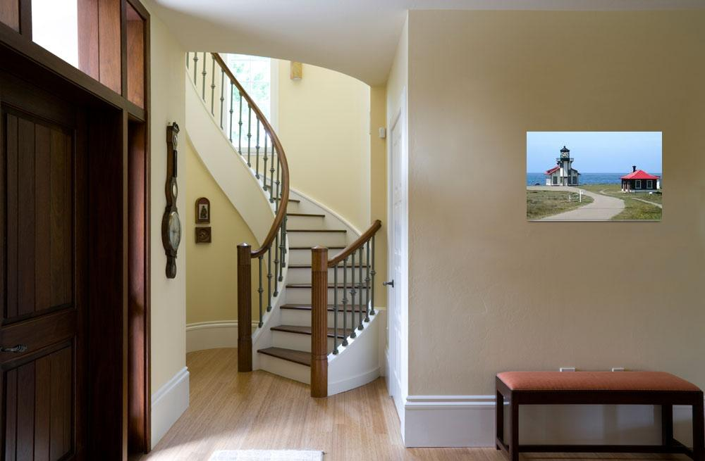"""""""Cabrillo Lighthouse from the movie """"The Majestic""""""""  (2002) by BobFikePhoto"""