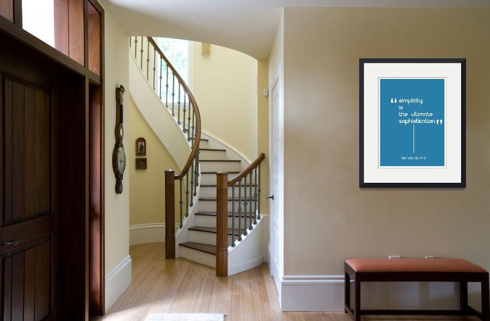 """""""Simplicity Minimalist Poster&quot  by motionage"""