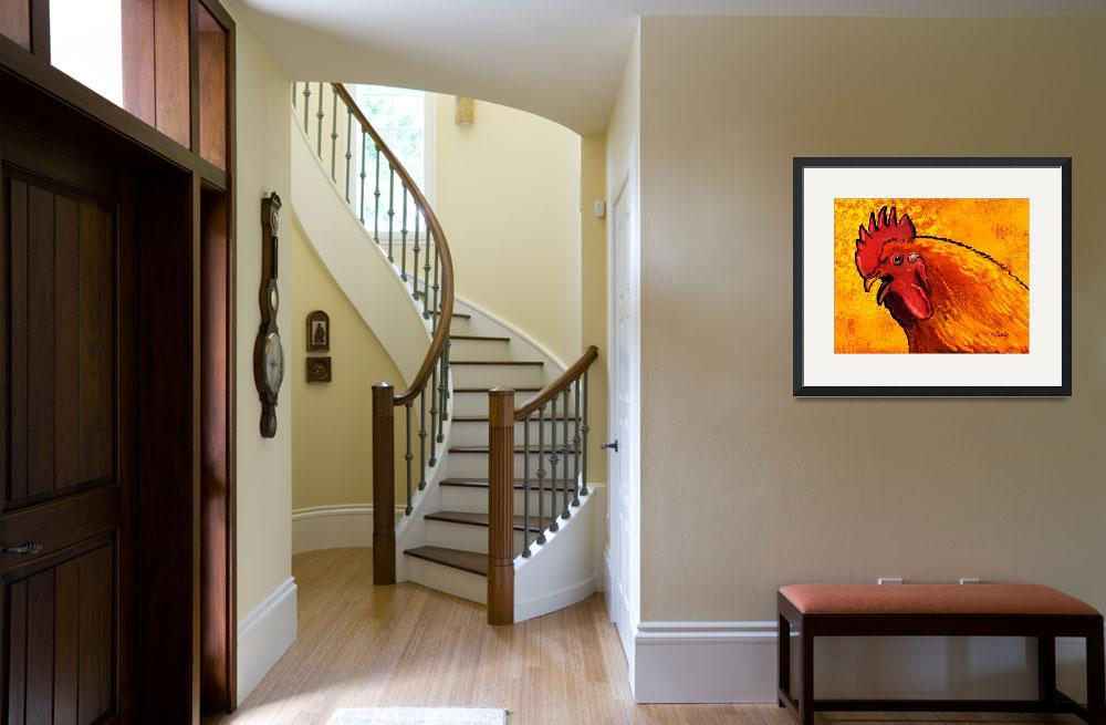 """""""Rooster Head&quot  by Tim"""