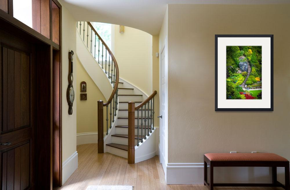 """""""Butchart Gardens Stairs&quot  (2011) by Inge-Johnsson"""