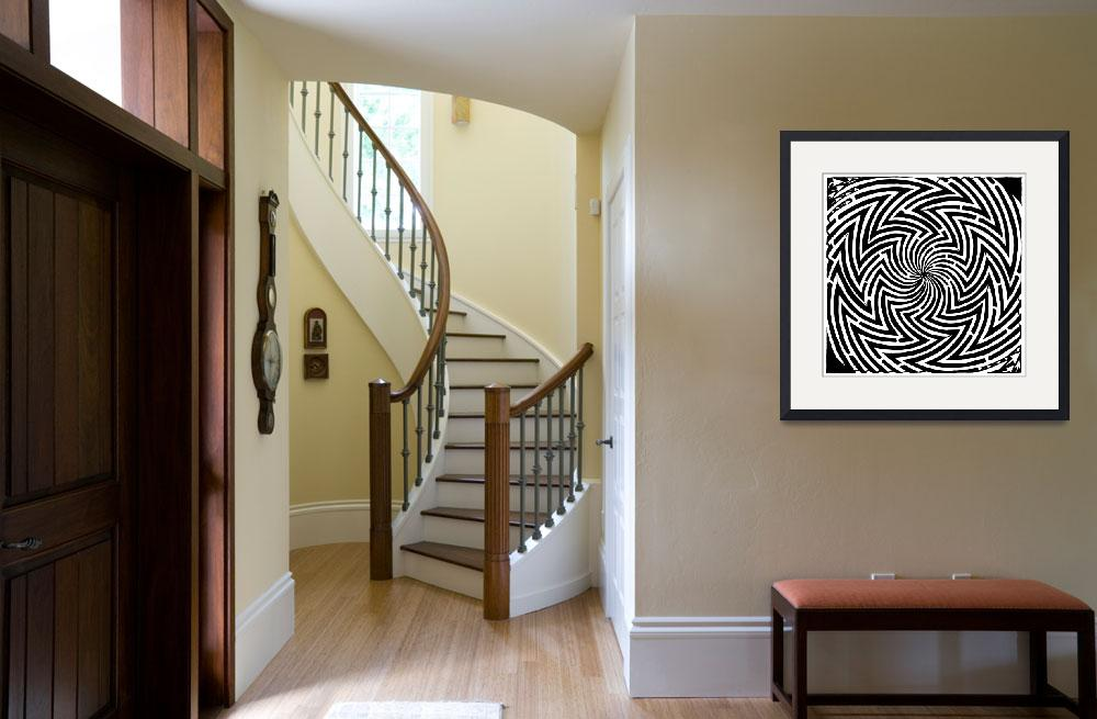 """""""please-stop-spinning-optical-illusion-maze-art-yon&quot  by yfrimer"""