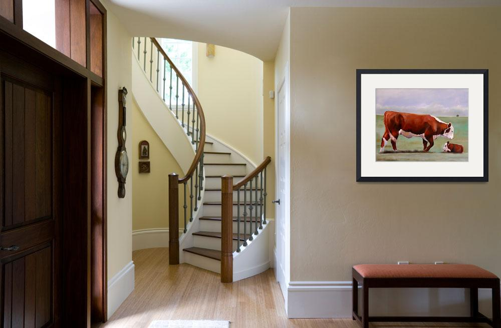 """""""Hereford Mom""""  (2008) by ToniGrote"""