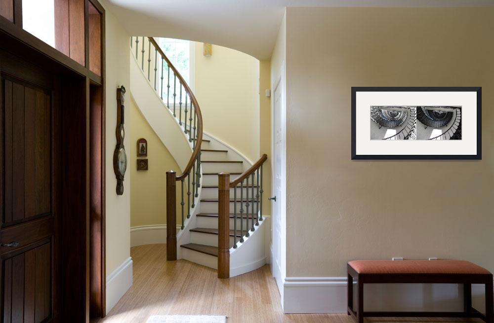 """""""Two images of a spiral staircase&quot  (2018) by NormaStampSunnyDaze"""