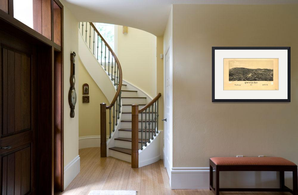 """""""1886 Graniteville, MA Birds Eye Panoramic Map&quot  by PaperTimeMachine"""