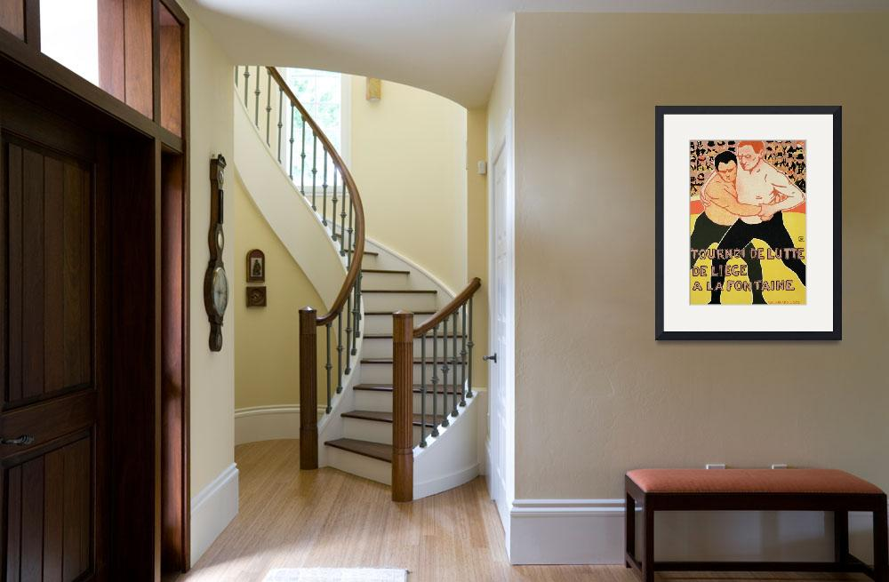 """""""Reproduction of a poster advertising a wrestling t&quot  by fineartmasters"""