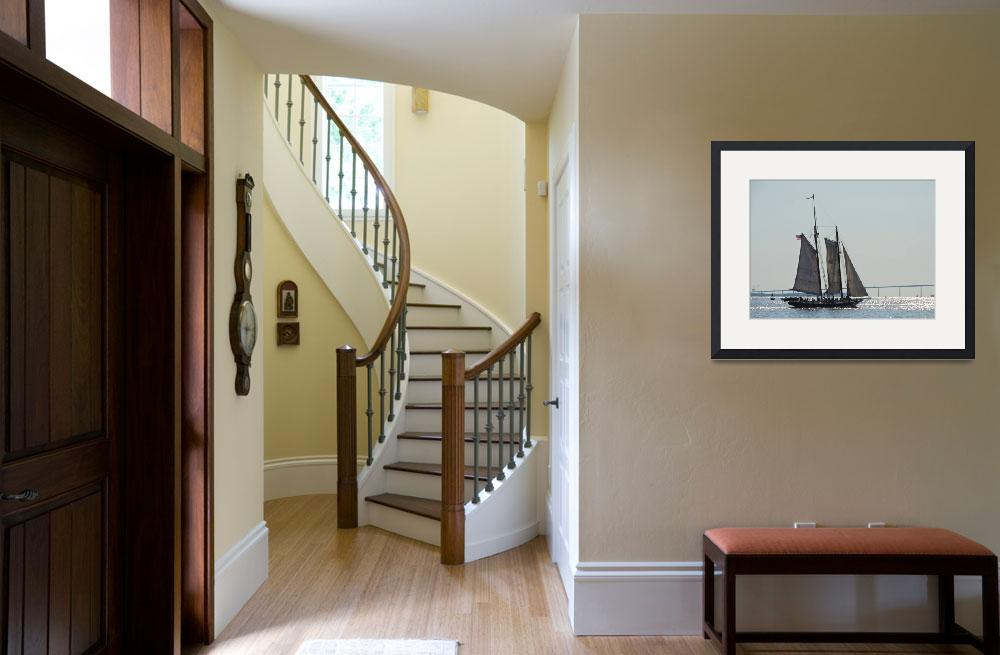 """""""Pride of Baltimore II Under Sail""""  (2014) by DougSwanson"""