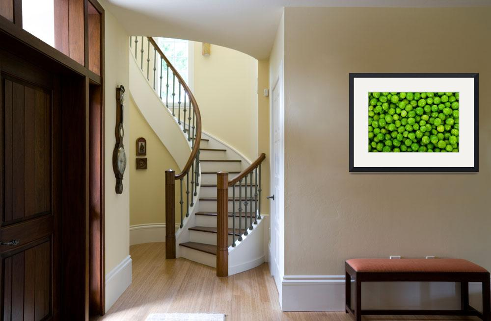 """""""Green peas background&quot  (2012) by ArgosDesigns"""