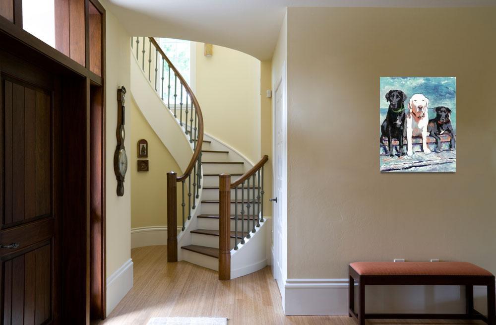 """Waiting For Doc - Dog art by Riccoboni&quot  (2006) by RDRiccoboni"