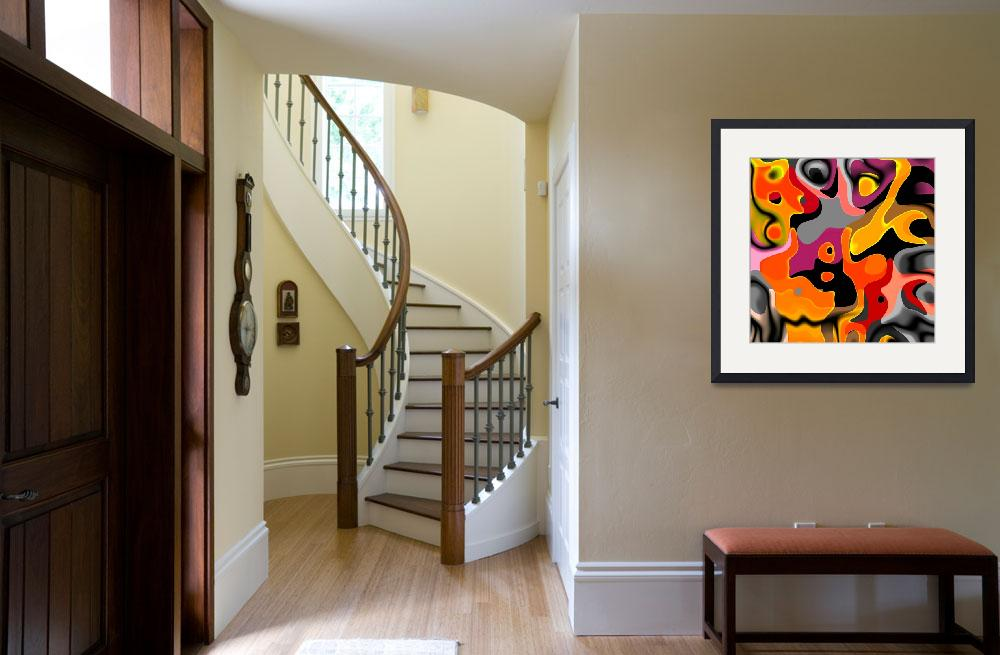 """""""ZIZZAGO Art Abstract Multi Color World 1A&quot  (2010) by shanmaree"""