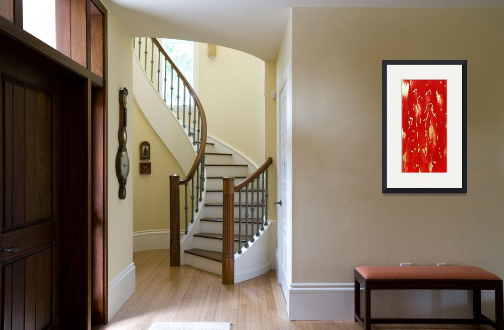 """""""Red Abstract""""  by LittleArtsyShop"""