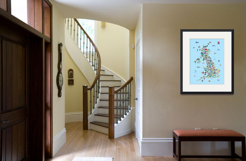"""""""Animal Map of Great Britain & NI for children and&quot  by ModernArtPrints"""