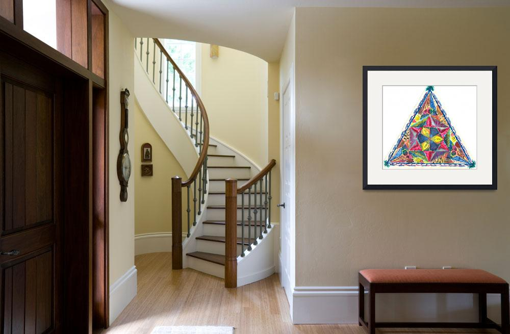 """""""triangle mosaic&quot  (1997) by AireenDeviani"""