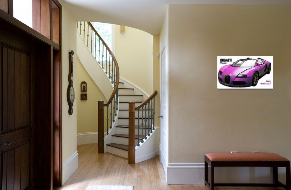 """Bugatti Veyron pink centenaire""  (2010) by cdepaz"
