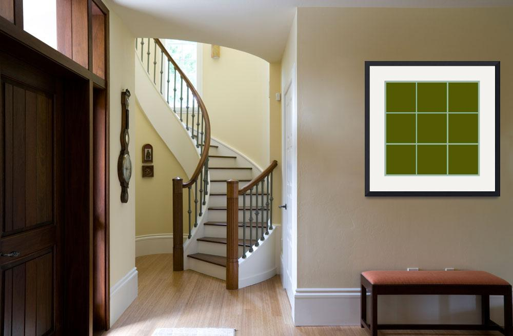 """""""Green Window 113 Canvas Contemporary Modern&quot  (2010) by Ricardos"""