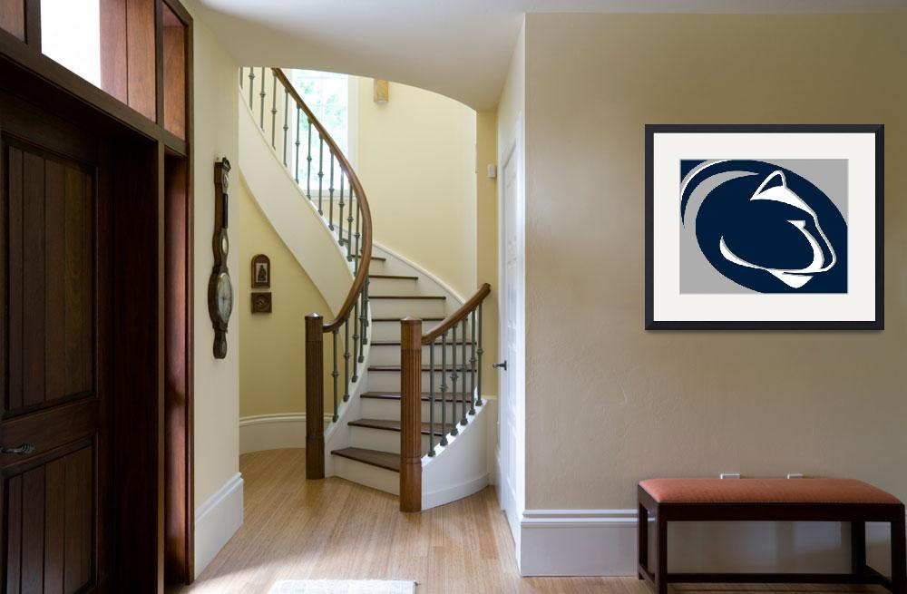 """""""Penn State Nittany Lions&quot  (2018) by RubinoFineArt"""