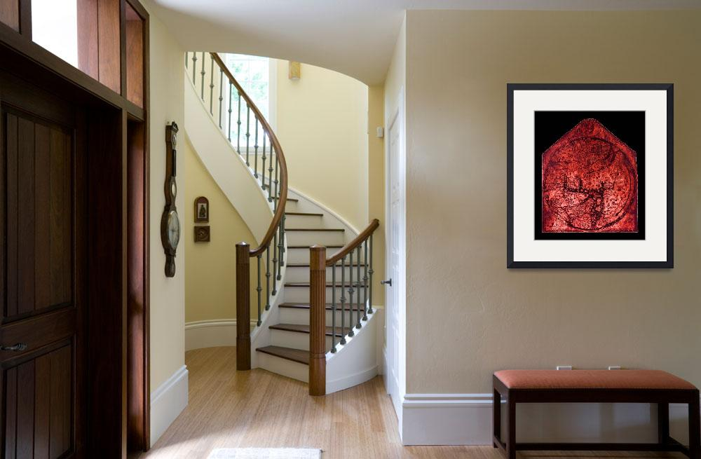 """""""Hereford Mappa Mundi Red Tint Small Black Border&quot  (2014) by TheNorthernTerritory"""