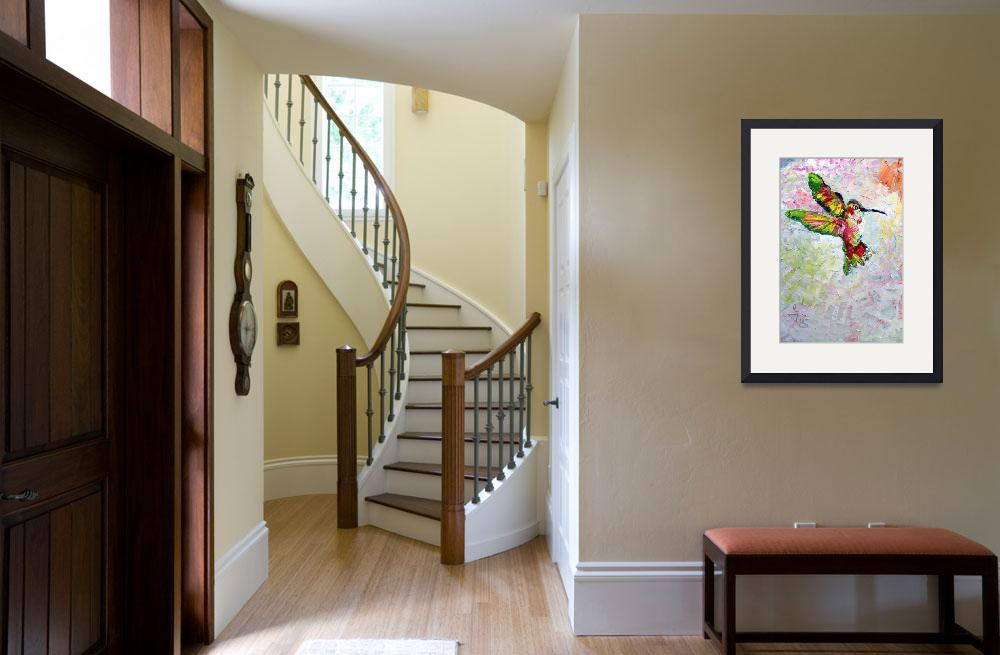 """""""Hummingbird Modern Impressionist Oil Painting&quot  (2017) by GinetteCallaway"""