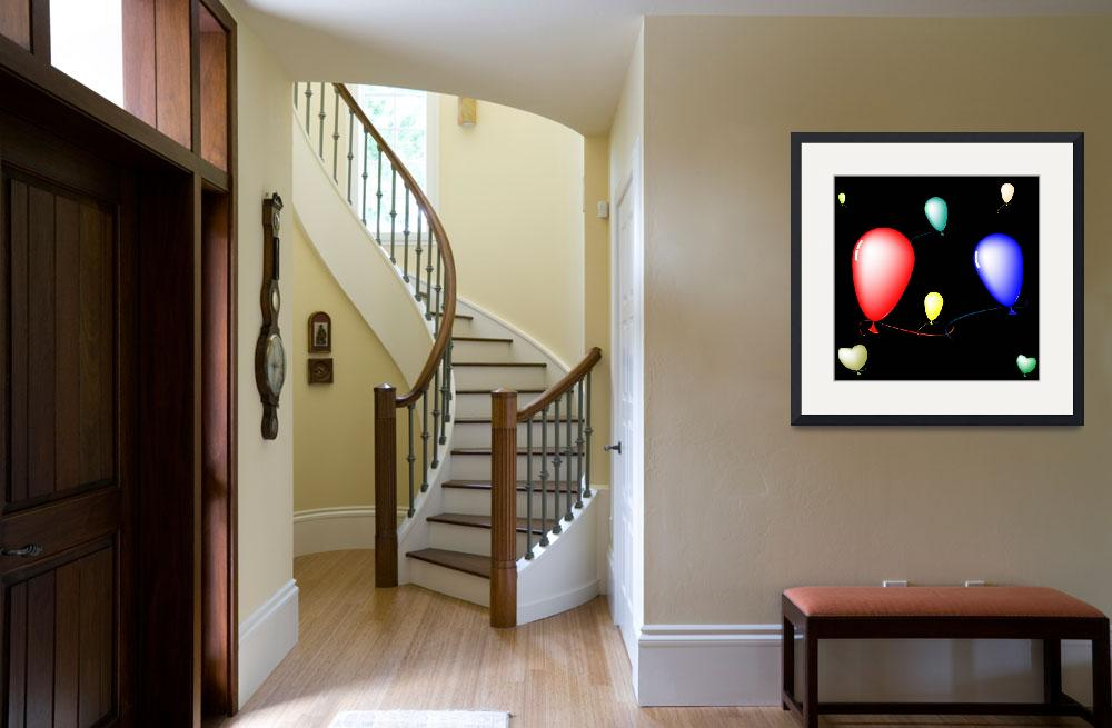 """""""colored ballons composition over black background""""  by robertosch"""