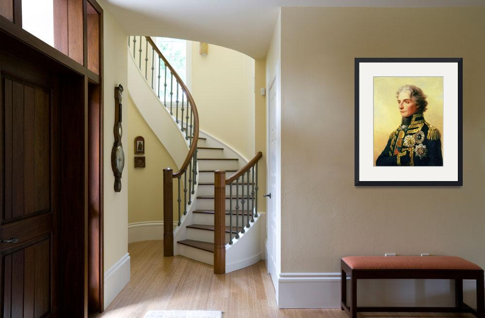 """""""Portrait of Lord Horatio Nelson by Friedrich Heinr&quot  by fineartmasters"""