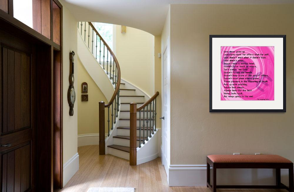 """""""love message pink swirl&quot  by lizmix"""