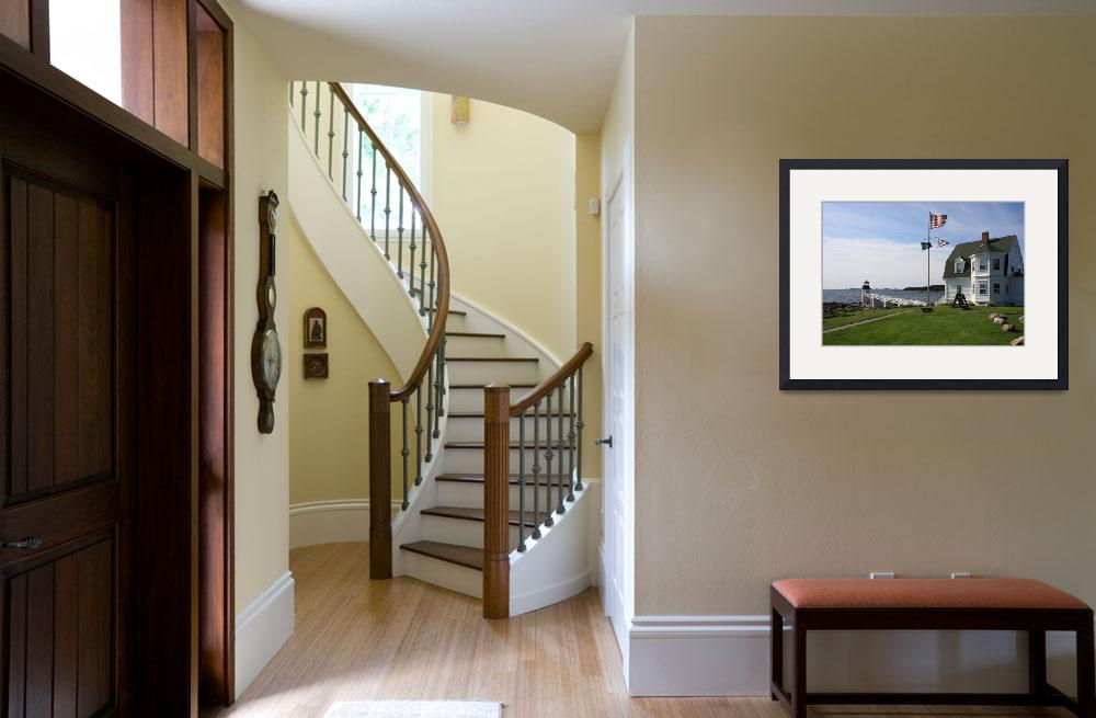 """""""Marshall Point Lighthouse-Port Clyde, Maine&quot  (2007) by kenrainwaterphotography"""