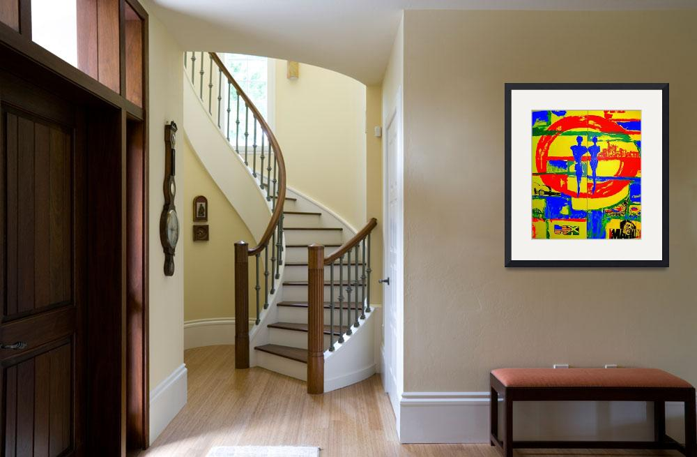 """""""Jamaican American 1 (two canvases)&quot  (2007) by USAprideBYjoyce"""
