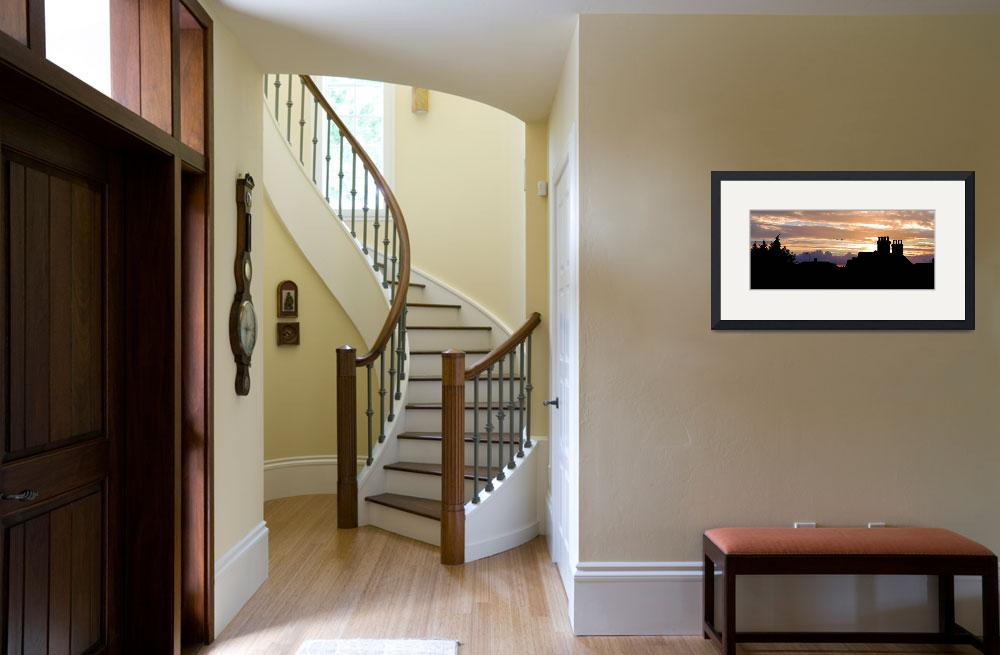 """""""Panorama of an English Railway Cottage at Sunset&quot  (2010) by CraigArmstrongPhotography"""