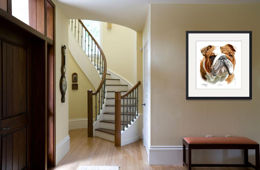 """""""Brown and White Bulldog""""  by Tim"""