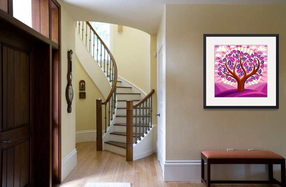"""""""Color Trees Framed Print&quot  by buddakats1"""