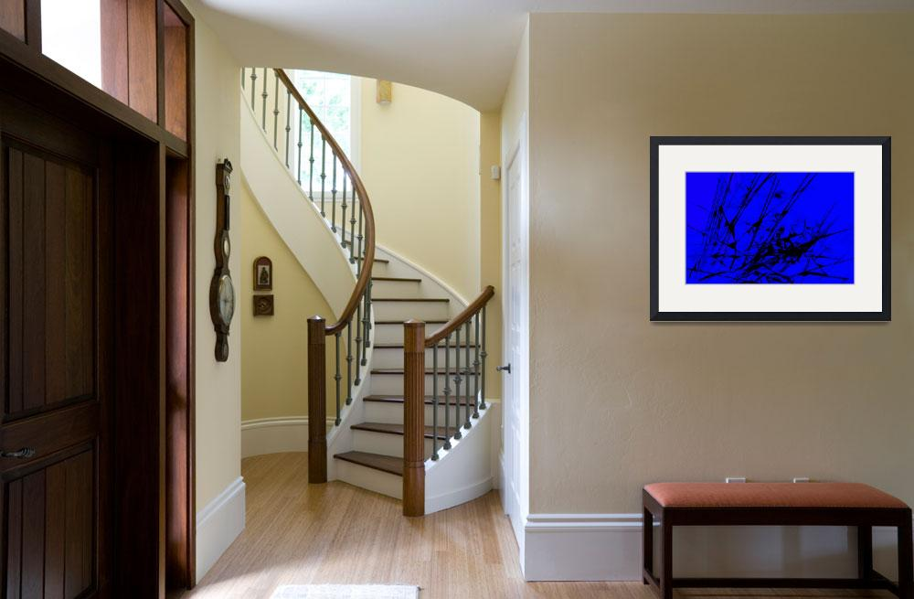 """""""Strike Out Blue and Black Abstract&quot  (2012) by NatalieKinnear"""