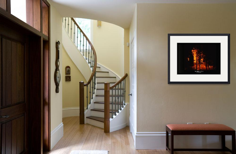 """""""Adirondack Inn Fire 1&quot  by HodlinGallery"""