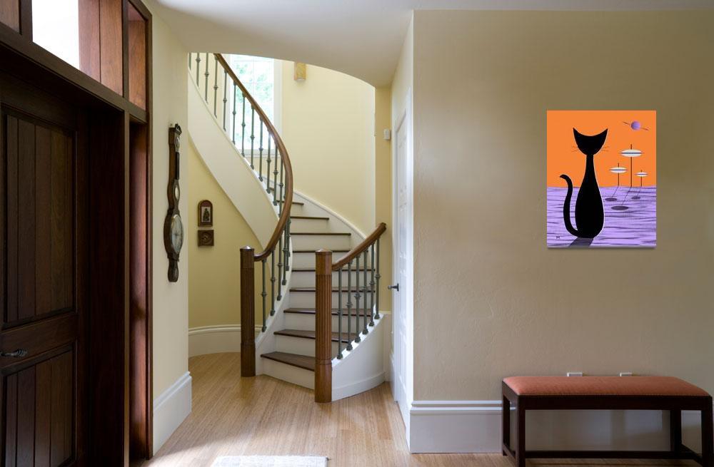 """Space Cat Orange Sky&quot  (2013) by DMibus"