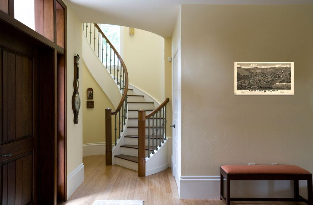 """""""1884 Great Barrington, MA Panoramic Map""""  by PaperTimeMachine"""