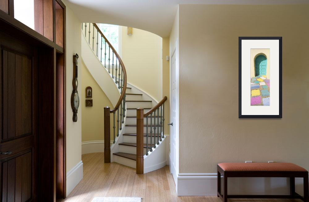 """""""Multi-colored tiles in front of a door&quot  by Panoramic_Images"""