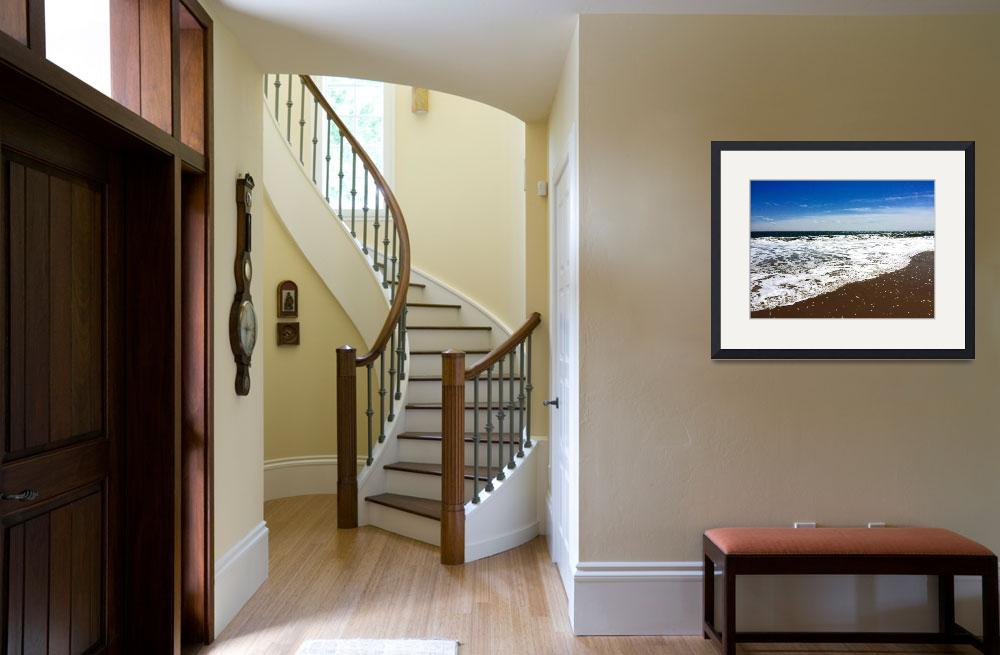 """""""Deep Blue Sky and Surf at Ocean City, Maryland&quot  (2015) by DougSwanson"""