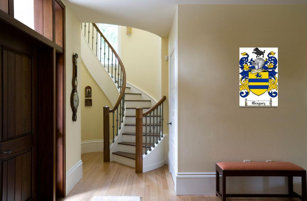 """""""GREGORY FAMILY CREST - COAT OF ARMS&quot  by coatofarms"""